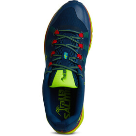 Salming Trail 5 Shoes Men Poseidon Blue/Safety Yellow